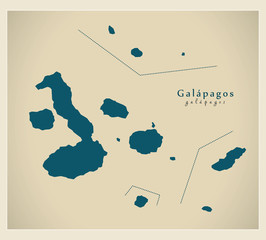 Modern Map - Galapagos Islands EC