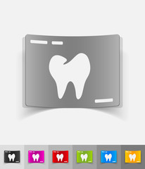 realistic design element. picture tooth
