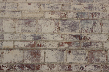 Badly painted brick and block wall