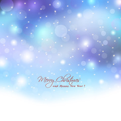 Christmas background with boket lights.Abstract elegant lights w