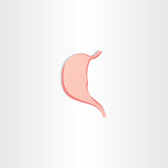 human stomach icon vector symbol