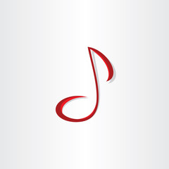 stylized musical note vector symbol