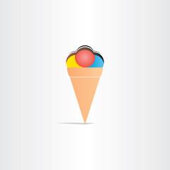 sweet fruit ice cream with chocolate icon