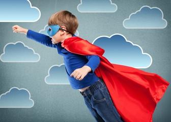 Kid, child, superhero.