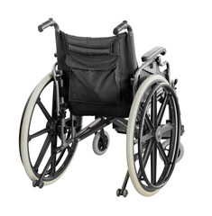 Wheelchair isolated on white background with clipping path