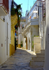 One of the characteristic views in the old town of Mottola near Taranto. Apulia