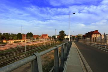 Widok dworca kolejowego w Opolu.