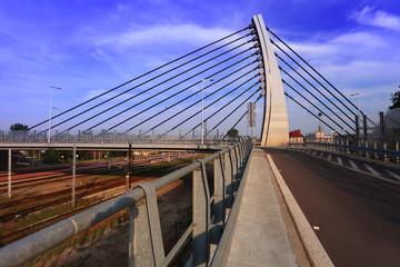 Konstrukcja stalowa mostu, wiaduktu w Opolu II.