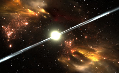 Pulsar highly magnetized, rotating neutron star