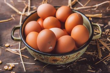 Fresh organic chicken eggs