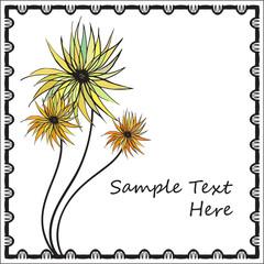 flower card template