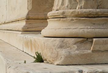 Greek columns at the Parthenon