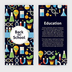 Vector Flyer Template of Flat design Back to School Science