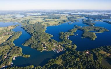 Obraz Aerial view of Mazury - fototapety do salonu