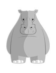Vector eps file of a vector cartoon Hippopotamus.