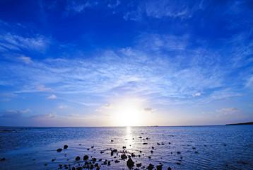 Beautiful sunset, Okinawa, Japan