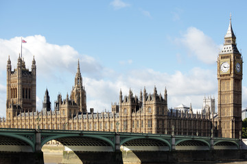 Houses of Parliament with Westminster Bridge