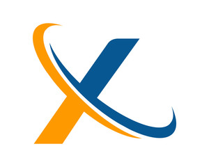 letter ring logo X