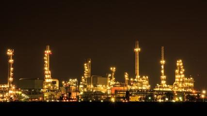Oil Refinery at Bangkok Thailand.