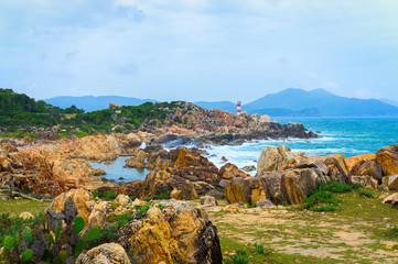 GanhDen lighthouse coastline