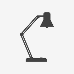 Table lamp monochrome icon