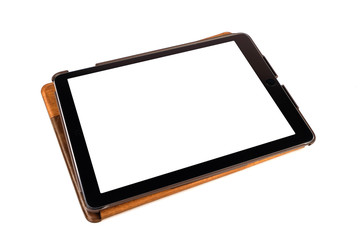 Tablet isolated on white background