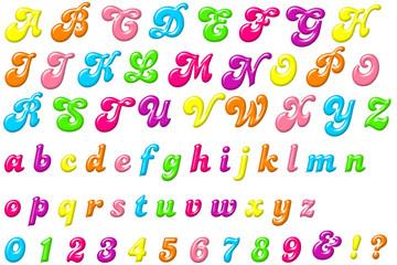 デコラなアルファベット・プラスチック