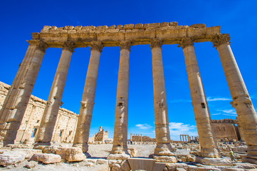 Ruins of Palmyra, Syria. UNESCO World Heritage Site