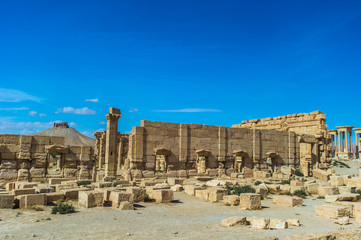 Ruins of the UNESCO World Heritage town of Palmyra, Syria
