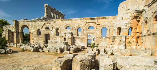 Ruins which represent the ancient Syria