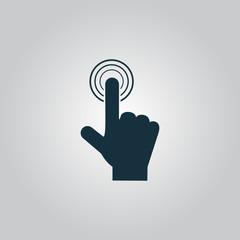click. hand icon pointer. vector