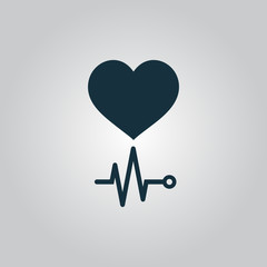Heart with its cardiogram