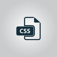 Css file icon vector.