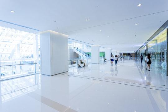 shopping mall interior.