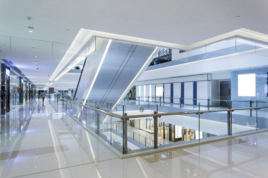 shopping mall interior and corridor