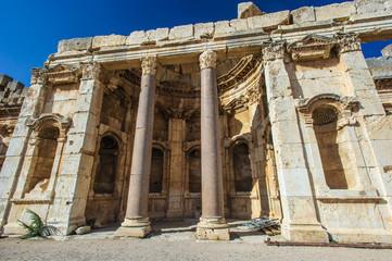 Roman ruins of Baalbek, Lebanon. Heliopolis, the City of the Sun. UNESCO World Heritage