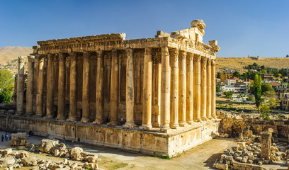 The Temple of Bacchus was one of the three main temples at a large complex in classical antiquity, at Baalbek in Lebanon.