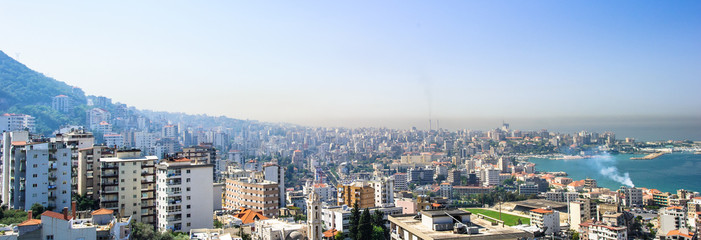 Panoramic view of Beirut, Lebanon capital.