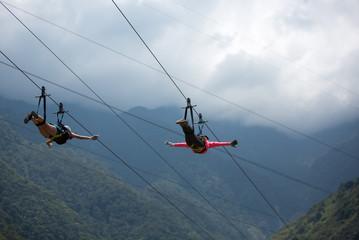 Canopy activities in Banos, Ecuador