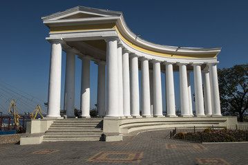 Poster de jardin Artistique The Colonade of Vorontsov Palace in Odessa
