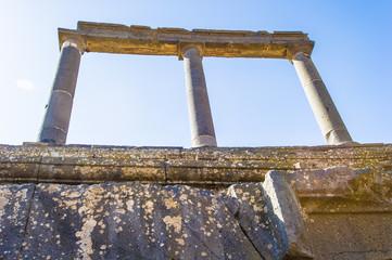 Roman ruins north of the citadel. Bosra, Syria
