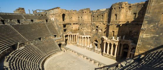 Roman Theatre at Bosra ,an ancient Roman theatre in Bosra, Syria.