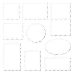 Blank White Stamps Frame Set