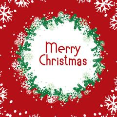 vector banner Merry Christmas