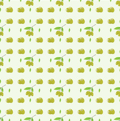 pattern seamless olive oil