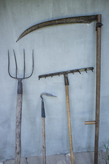 Винтажный инструмент фермера-крестьянина