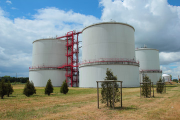 Containers with biogas from wastewater treatment plant