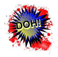 Doh Comic Exclamation