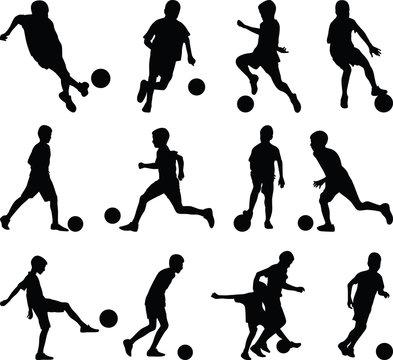 kid play soccer