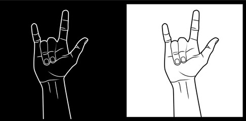 I love you hand sign language vector image